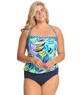 Anne Cole Plus Size Royal Hawaiian Blouson One Piece