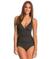 Jantzen Texture Dot Stripe One Piece