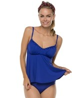 Jantzen Solid Braid Front Tankini Top