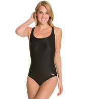 Sporti Polyester Moderate Solid Swimsuit