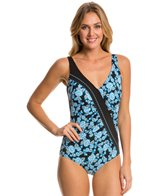 Sunmarin Trinidad Rouched Floral One Piece