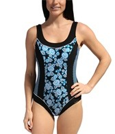 Sunmarin Floral Stripe One Piece