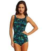 T.H.E. Flourish Fantasy Shirred Front Girl Leg Mastectomy One Piece