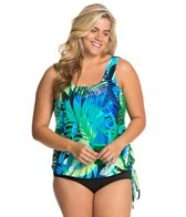 Topanga Animated Amazon Plus Size Tank Strap Blouson Mastectomy Tankini Top
