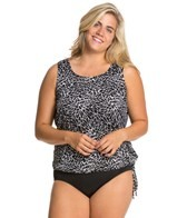 Topanga Ice Crystal Plus Size Wear Your Own Bra Mastectomy Tankini Top