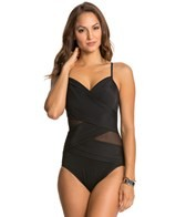 Miraclesuit Net Work Solid Mystify One Piece