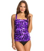 Miraclesuit Purple Reign Breezy Fauxkini One Piece