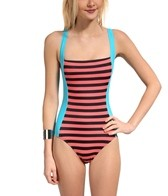 TYR Stripes Deep V Back One Piece