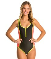 TYR Solid Zipper Low Back One Piece