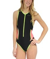 TYR Solid Zipper One Piece