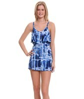 J. Valdi ITY Prints Double Strap Ruffle Dress