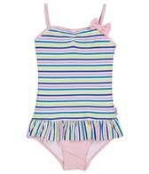 Seafolly Girls' Liberty Lane Tube Tank One Piece (6mos-4yrs)