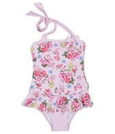 Seafolly Girls' Kitchen Tea Ballerina Tank One Piece (6mos-4yrs)