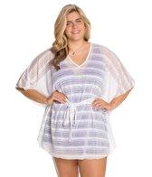 Jordan Taylor Vibrant Stripe Plus Size Caftan