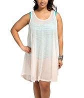 Jordan Taylor Fishbone Braid Plus Size Hi-Lo Tank Dress
