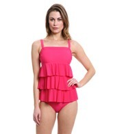 Fit4U Boy Meets Girl Triple Tiered Bandeau Tankini Top