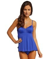 Fit4U Luxury Solids Peplum Underwire Bra Tank Bikini Top