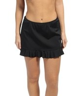 Fit4U Missy Bottoms Solid Ruffled Swim Skirt