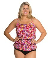 Fit4U Bright Spot Plus Size Triple Tier Scoop Tank Top