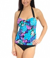 South Point Jungle Bloom Sea Breeze Bandeaukini Top