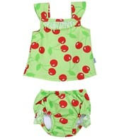 iPlay Girls'  Lime Cherry Swim Diaper Tankini Set (6mos-3yrs)