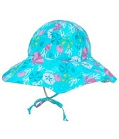 iPlay Girls' Aqua Shell Garden Reversible Sun Protection Hat (0-4yrs)