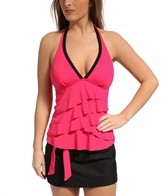 Eco Swim Eco Brights Tiered Ruffle Halter-kini Top