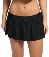 Eco Swim Solid Shirred Side Skirt