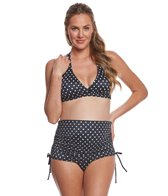 Prego Dot Ruched Bikini Set