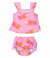 iPlay Girls' Pink Popsicle Swim Diaper Tankini Set (6mos-3yrs)