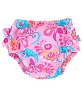 iPlay Girls' Pink Paisley Ruffle Swim Diaper (6mos-3yrs)