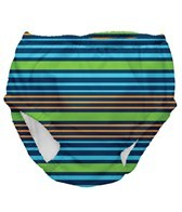 iPlay Boys' Navy Multistripe Snap Swim Diaper (6mos-4yrs)