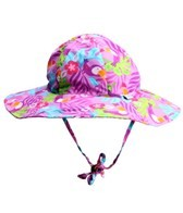 iPlay Girls' Lavender Toucan Floppy Brim Sun Protection Hat (0mos-4yrs)