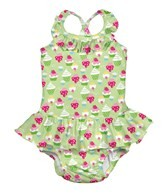 iPlay Girls' Lime Cupcakes Ruffle Swim Diaper Tanksuit (6mos-3yrs)