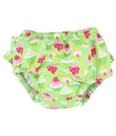 iPlay Girls' Lime Cupcakes Ruffle Snap Swim Diaper (0mos-4yrs)