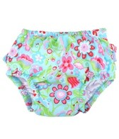 iPlay Girls' Aqua Calypso Ruffle Snap Swim Diaper (0mos-4yrs)