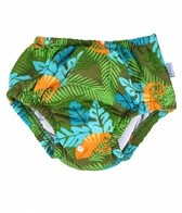 iPlay Boys' Olive Chameleon Snap Swim Diaper (0mos-4yrs)