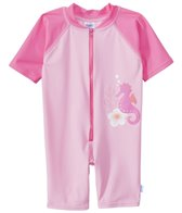 iPlay Girls' Pink Seahorse One-Piece UV Zip Sunsuit (6mos-3yrs)