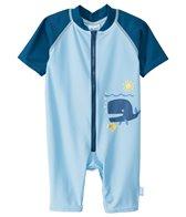 iPlay Boys' Blue Whale One-Piece UV Zip Sunsuit (0mos-3yrs)