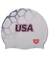 Arena USA Swimming Silicone Swim Cap