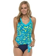 South Point Seaside Floral Off The Hook Tankini Top
