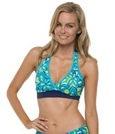South Point Seaside Floral On Shore Halter Top