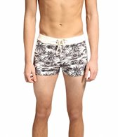Sauvage Men's Vintage Tribal Hawaii Square Cut Boardshort