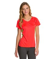 The North Face Women's Reflex V-Neck Short Sleeve Running Tee