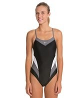 Nike Swim Victory Color Block Cut Out Tank