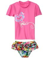 Seafolly Girls Summer Garden Ruffled Sunvest Set (6mos-7yrs)
