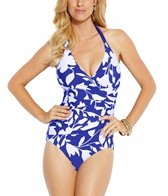 Jantzen Pop Floral Surplice Halter One Piece