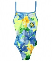 Tidepools Girls' Hanalei Sunrise Contrast Cross-Back One Piece (7-14)