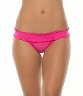 Sofia Solid Rocotto Rouche Banded Bikini Bottom