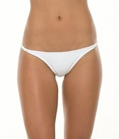 Sofia Solid White Braided String Brazilian Bottom